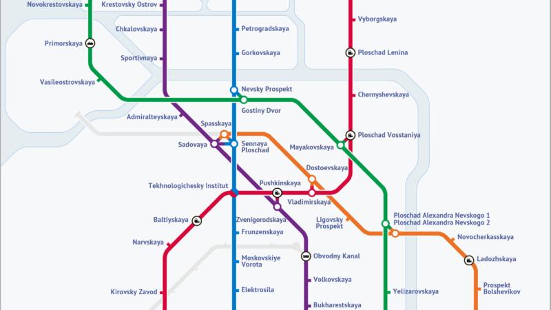 Metro w Sankt Petersburgu i nie do końca udana niespodzianka