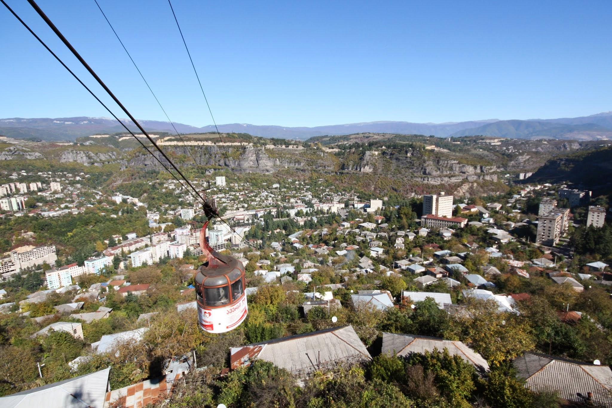 Chiatura – świat kolejek linowych dla odważnych